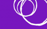A logo which is overlapping white circles on a purple background