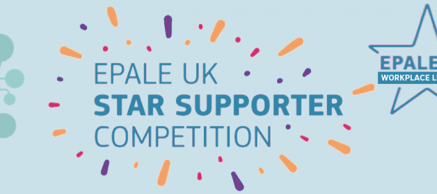 EPALE UK Star Supporter Competition mini blogs banner