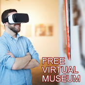 Man at museum with VR