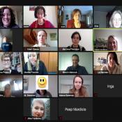 Zoom-Screenshot der Teilnehmenden am Fresh-up Economics Workshop