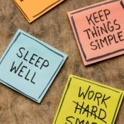 Post-it notes with positive affirmations