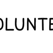 Schriftzug Volunteer