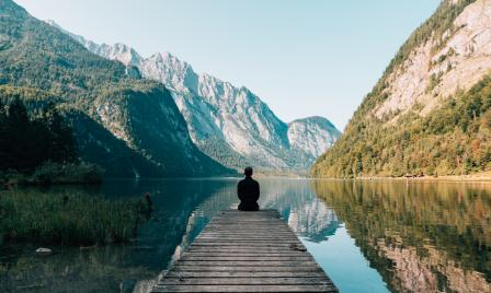 Mindfulness, man sitting