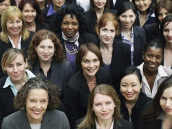 Group shot of successful businesswomen