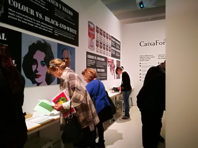 Madridi CaixaForumi Andy Warholi näituse tegevustuba