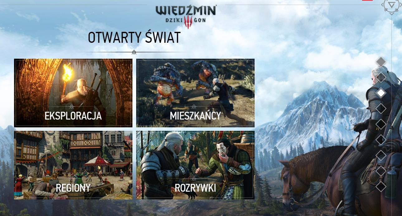 Otwarty świat w grze Witcher