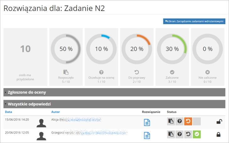 Implementacja zadań wdrożeniowych screenshot